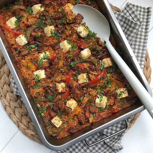 Backofen-Reisfleisch