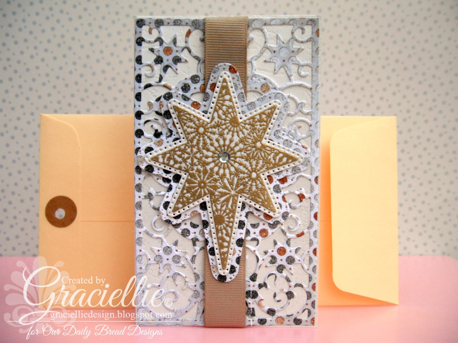 Stamps - Our Daily Bread Designs Snowflake Stars, ODBD Custom Flourished Star Pattern Die, ODBD Custom Splendorous Stars Dies, ODBD Winter Paper Collection 2014