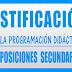 JUSTIFICACIÓN  PROGRAMACIÓN DIDÁCTICA  OPOSICIONES 2019 y 2020  SECUNDARIA Y FP