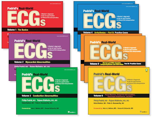 PODRID'S REAL-WORLD ECG SERIES COMPLETED (6 Vol-Sets)- 8 PDF EBOOKS!