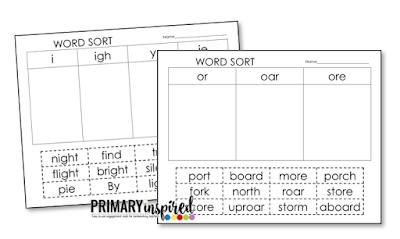 Sorting Word Patterns