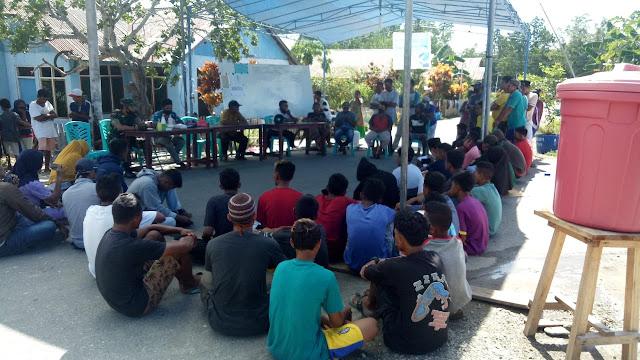 Satgas Yonarmed 9 Kostrad Sosialisasikan Protokol Kesehatan Covid-19 di Desa Wainin