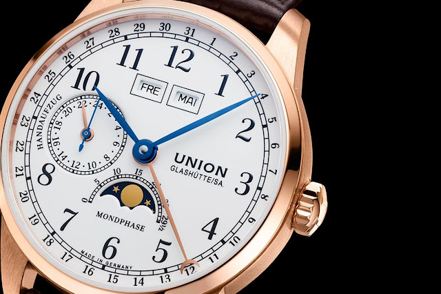 Union Glashutte 1893 Johannes Durrstein Edition Moon Phase in rose gold