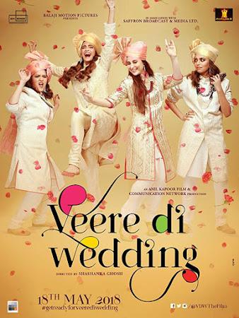 Poster Of Bollywood Movie Veere Di Wedding 2018 300MB Pdvd Full Hindi Movie