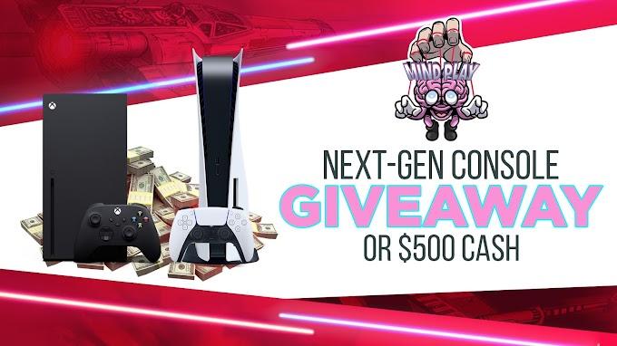 Sorteio de um console da nova geração ou $ 500 dólares