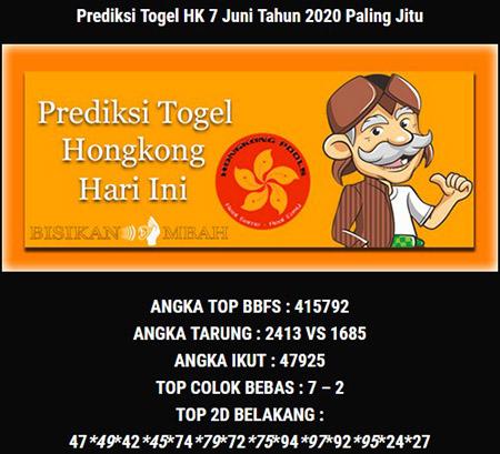 Bocoran HK Minggu 07 Juni 2020 - Bisikan Mbah