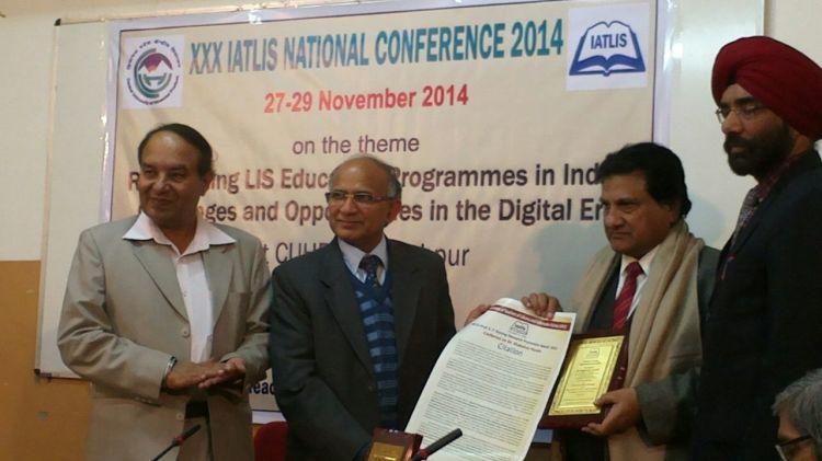 Shahahat Husain - IATLIS - Prof. S.P. Narang Research Promotion Award