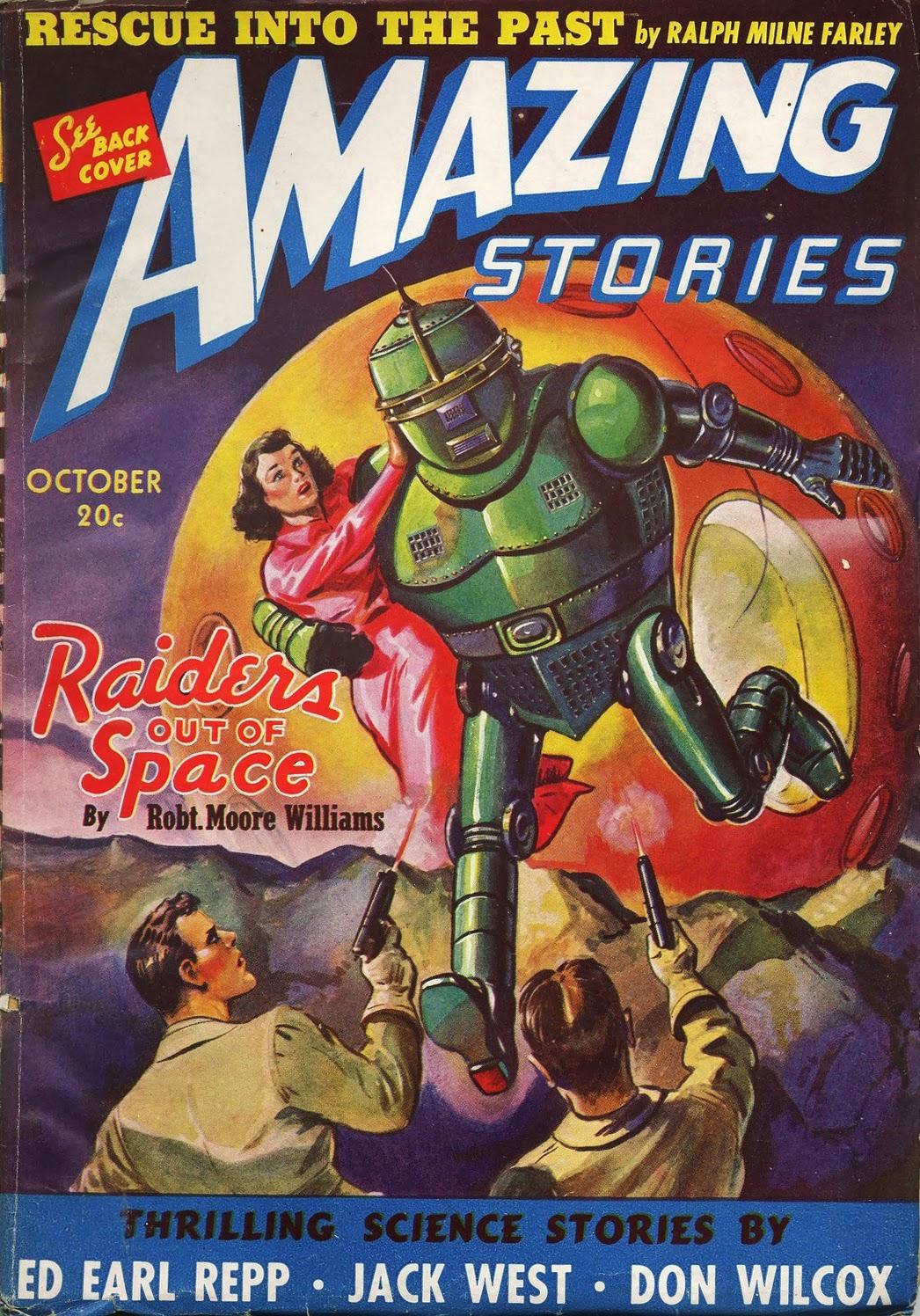 Amazing Stories Volume 21 Number 06: Ski-Ffy: AMAZING STORIES, OCTOBER 1940