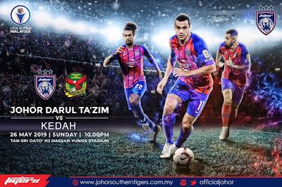 [ LIVE ] JDT vs Kedah Liga Super 26.5.2019