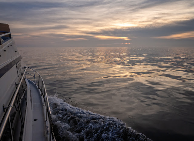 Photo of Ravensdale returning from our last fishing trip on the Solway Firth on February 25