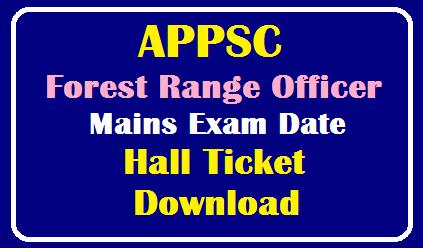 APPSC Forest Range Officer(FRO) Hall Ticket 2019 – Download Admit Card @psc.ap.gov.in /2019/10/APPSC-Forest-Range-Officer-Mains-Exam-Date-Hall-Ticket-Download.html
