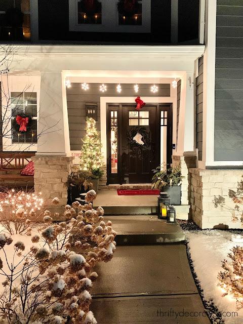 craftsman home exterior Christmas