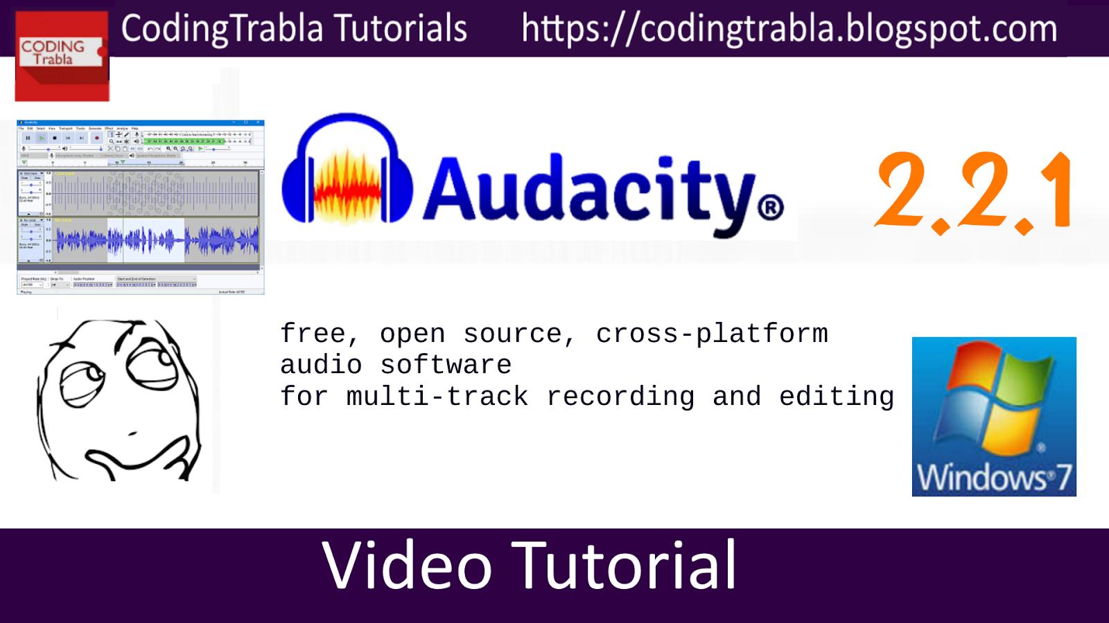 codingtrabla: Install Audacity 2 2 1 on Windows - free
