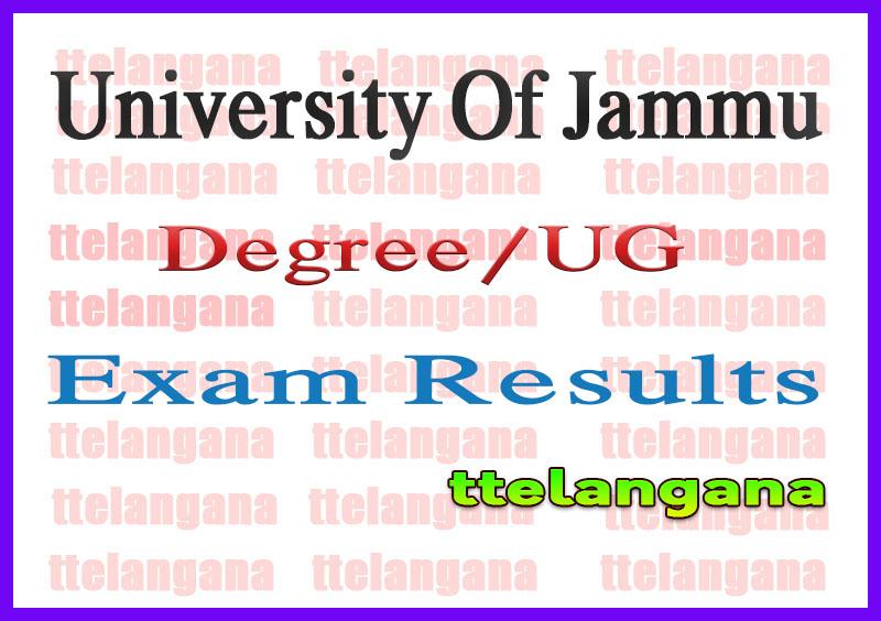 University Of Jammu BA/BSc/B.Com/BCA/BBA Exam Results