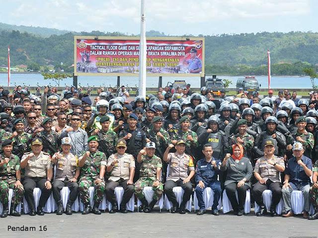 Suko Pranoto Pimpin Simulasi Pengawalan Pengamanan Capres dan Cawapres di Maluku