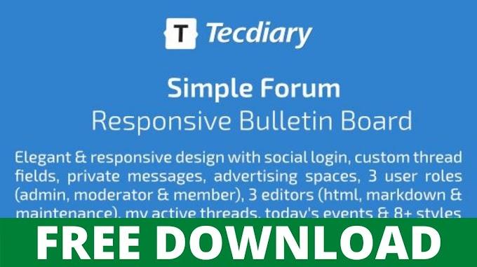 DOWNLOAD SIMPLE FORUM V1.4.0 – RESPONSIVE BULLETIN BOARD