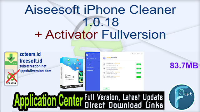 Aiseesoft iPhone Cleaner 1.0.18 + Activator Fullversion