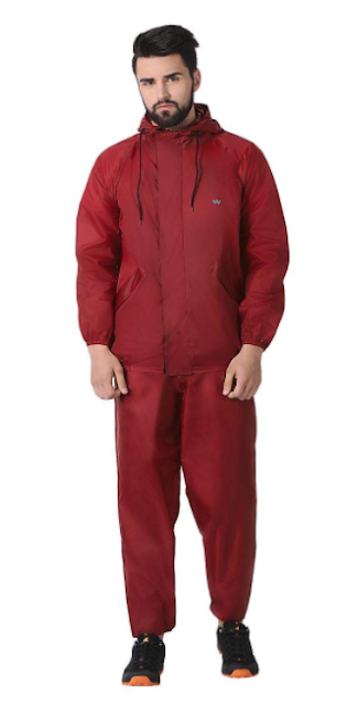 Wildcraft Maroon Hypadry Unisex Rain Cheater Suit E Plus (41310)