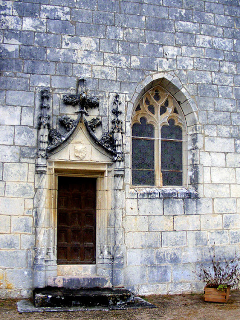 Side door to church, Concremiers, Indre, France. Photo by Loire Valley Time Travel.