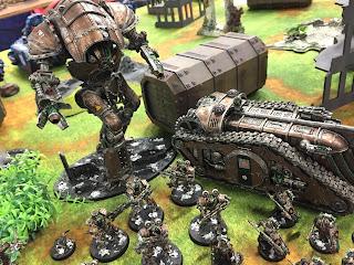 Knight Atrapos, Thallax and Triarios Dark Mechanicum