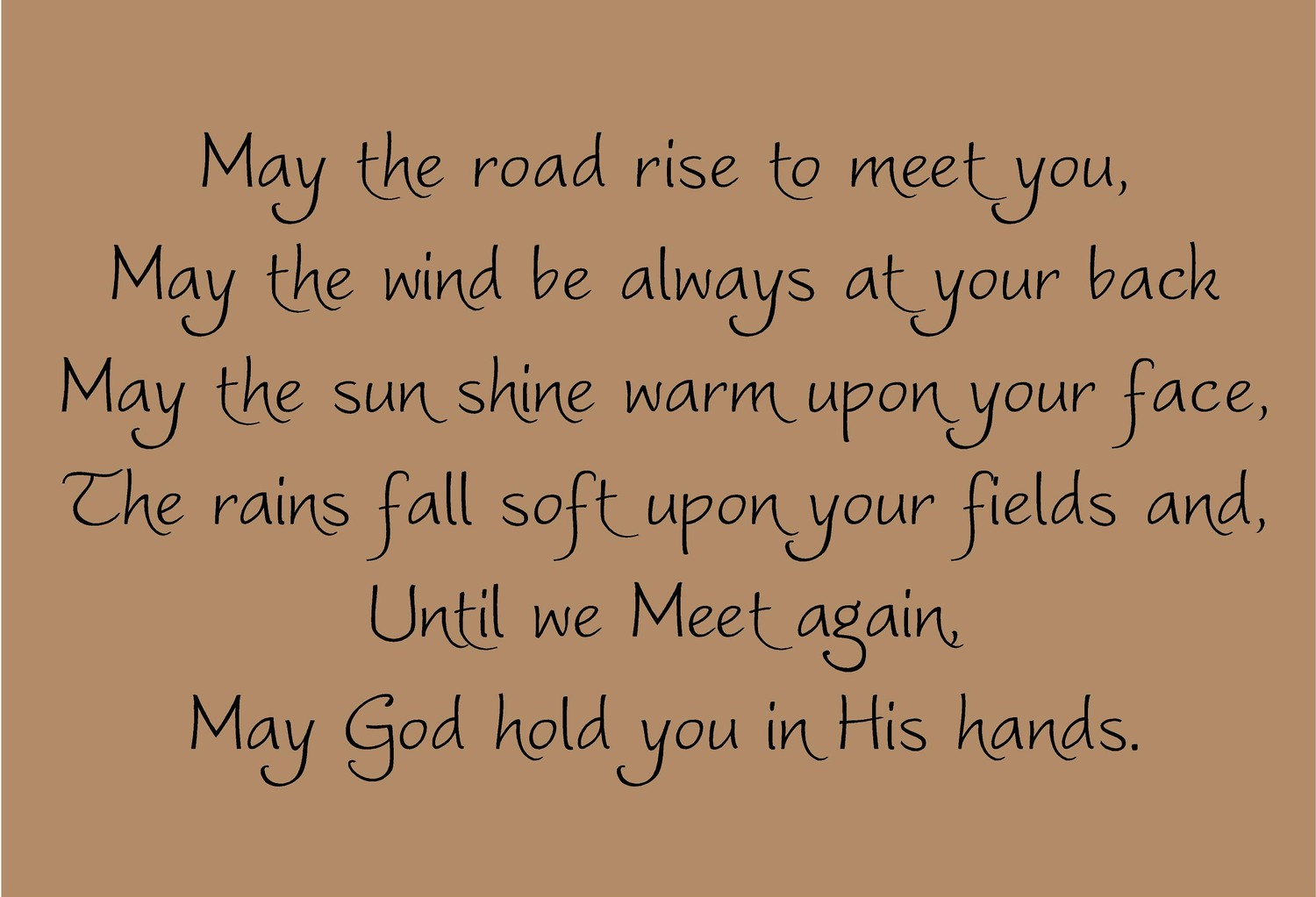 irish blessing may the road rise to meet you lyrics