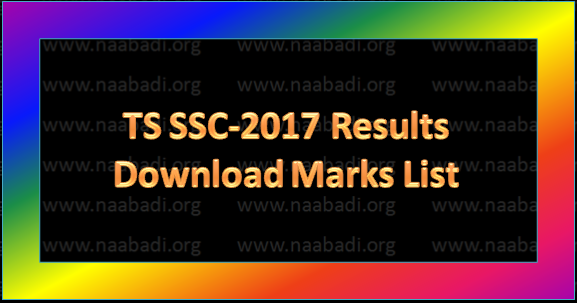 TS SSC-2017 Results @bse.telangana.gov.in