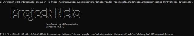 herramienta NETO analiza extensiones ciberseguridad imagen