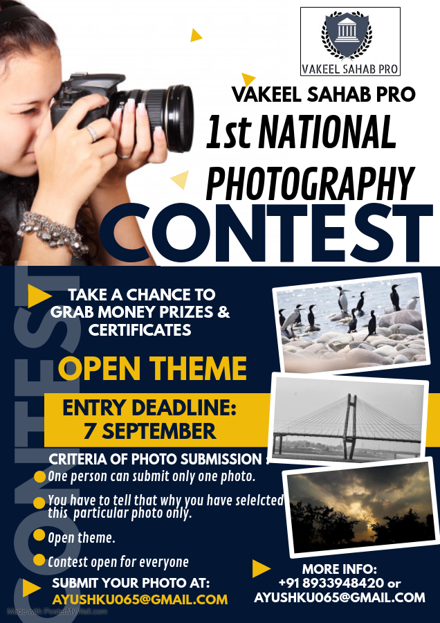 1st National Level Photography Competition @ VAKEEL SAHAB PRO