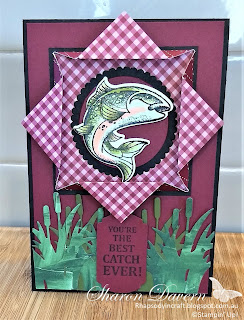 Best Catch, Male Cards, Masculine cards, Fishing, Stampin' Up!, Rhapsodyincraft, #loveitchopit