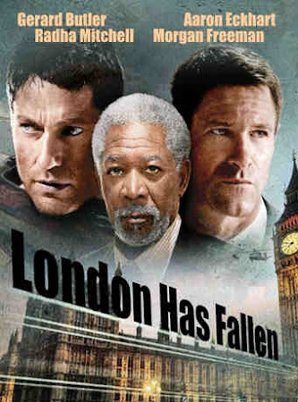Poster Of London Has Fallen 2016 In Hindi Bluray 720P Free Download