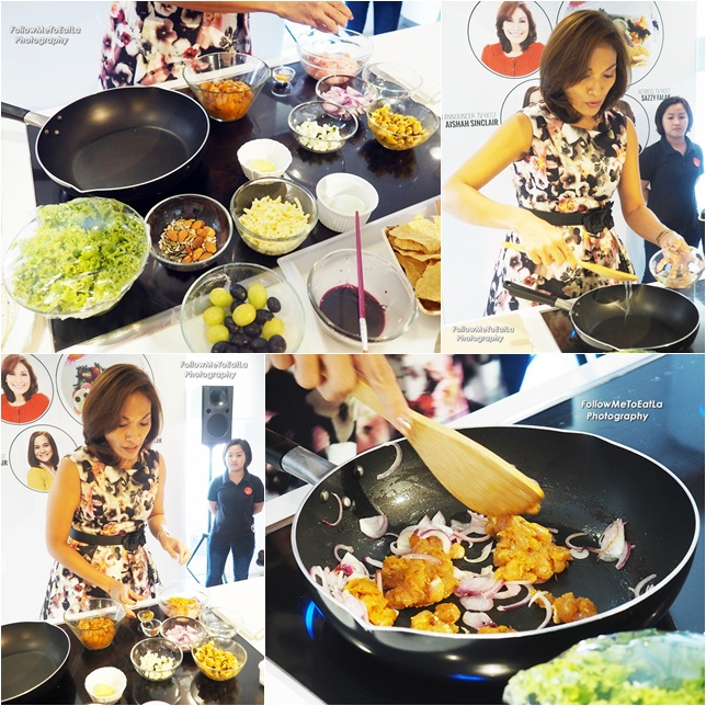 Indra Balaratnam In Action Over Her Bento Recipe