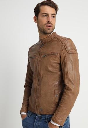 Harga Jaket Kulit Domba Super Asli Garut Pria Warna Coklat Muda Brida Leather