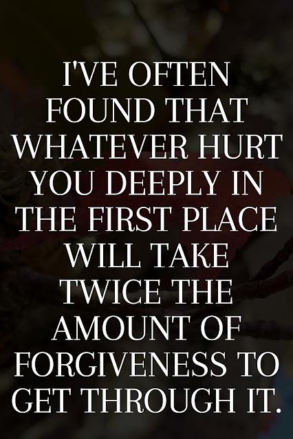 Healing over pain.