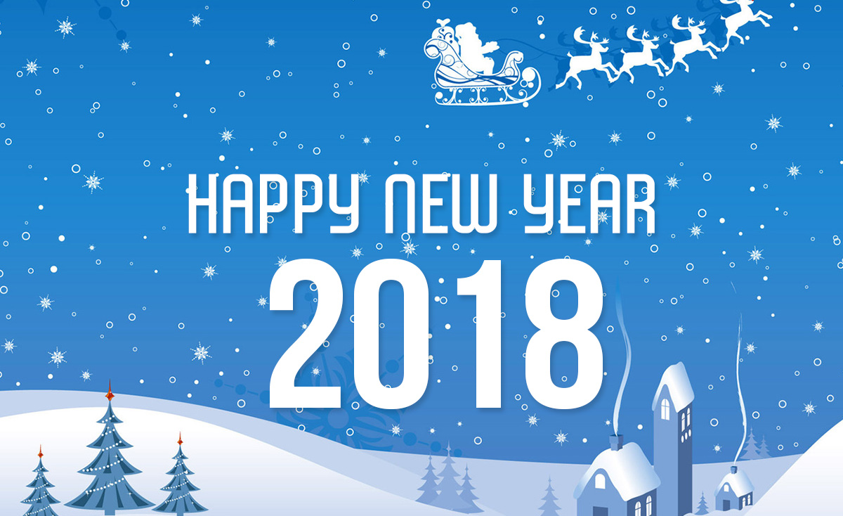 Welcome Happy New Year 2018 November 2017