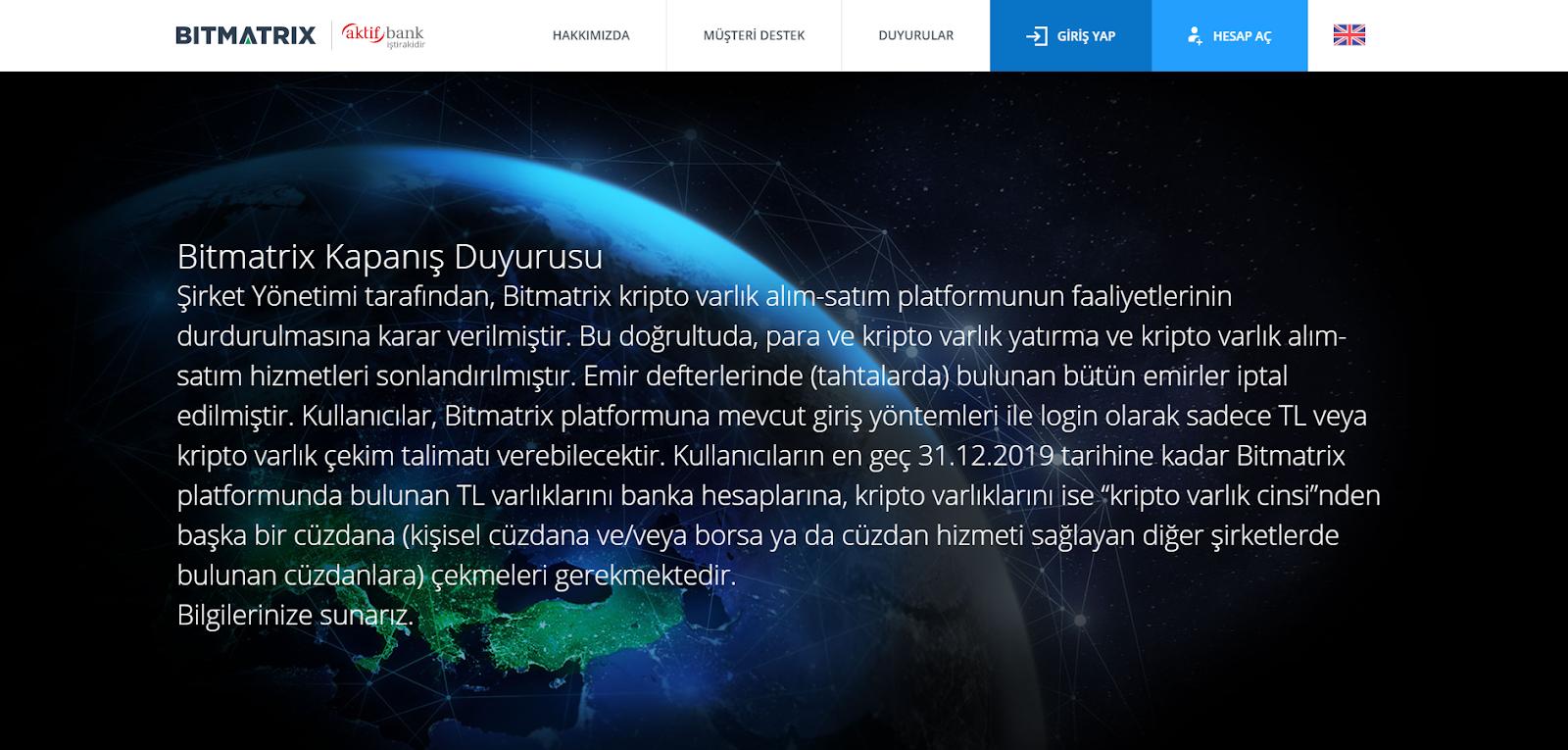 Türkiye'de Bir Kripto Para Borsası Kapanıyor
