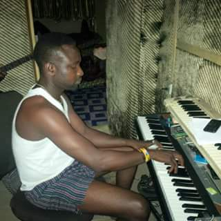 Olasokun Kayode at softsound Production studio