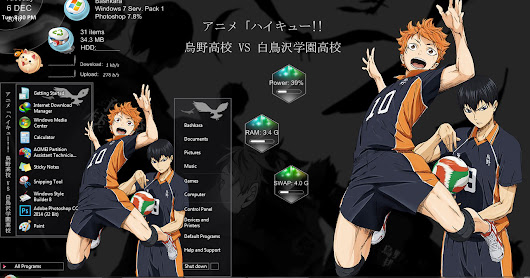 Theme Windows 7 Haikyuu By Bashkara