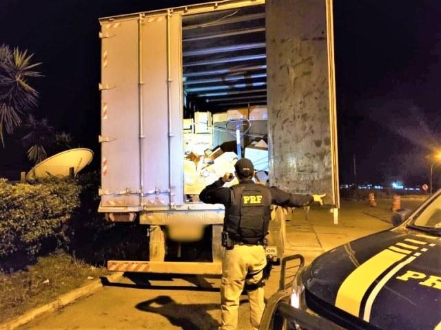 PRF recupera carga roubada avaliada em milhares na BR-116