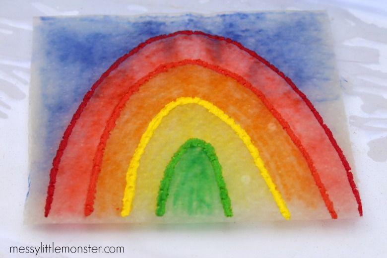 Paper towel art activity for kids