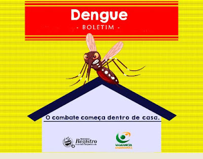 396 casos confirmados Dengue em Registro-SP