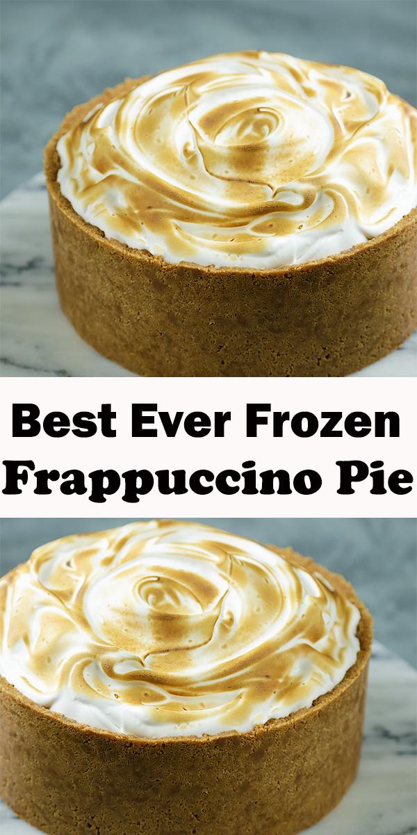 Best Ever Frozen Frappuccino Pie #BestEver #Frozen #Frappuccino #Pie #BestEverFrozenFrappuccinoPie