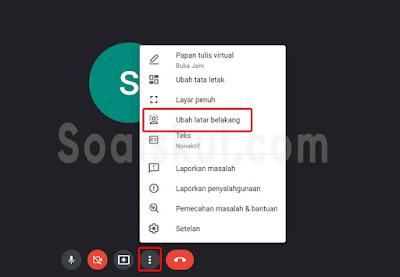 langkah 2 ganti background gmeet laptop