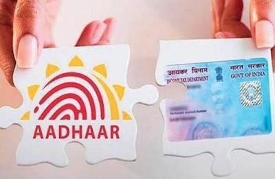 Pan link with aadhaar