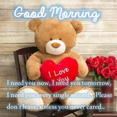 Cute Good Morning Teddy Bear Images