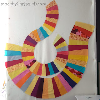 Improv Piecing and Quilting by www.madebyChrissieD.com