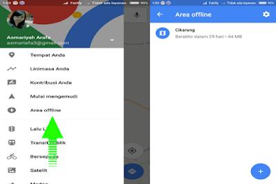 cara maps offline