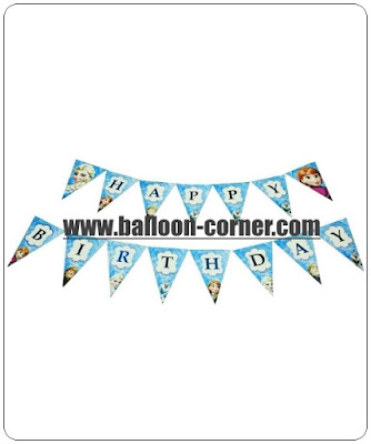 Bunting Flag HAPPY BIRTHDAY Motif Frozen