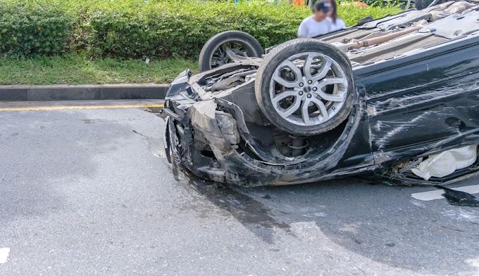 Felborult egy autó Zákányszék és Ruzsa között