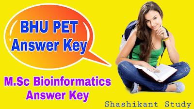 BHU-M.Sc-Bioinformatics-Answer-Key