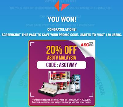Shopee Promo Code Malaysia ASOTV Products
